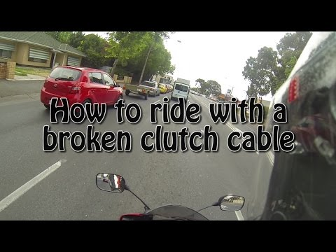Motorcycle Clutch Cable Snaps on Busy Road! / How to ride with a broken clutch cable