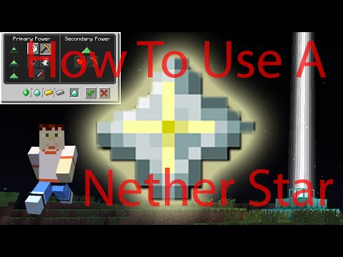 Minecraft | HOW TO USE NETHER STAR | How to use a beacon Tutorial