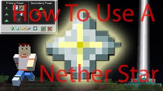 Minecraft How To Use Nether Star How To Use A Beacon Tutorial