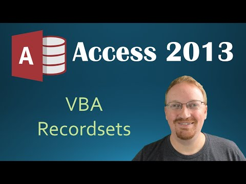 53. VBA - Recordsets Part 1 (Programming In Access 2013)