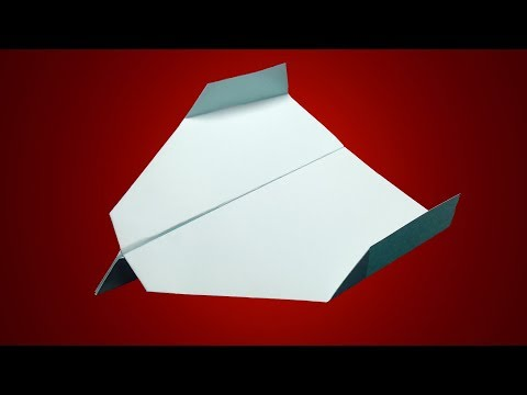 How to make a paper super boomerang airplane that comes back to you easy