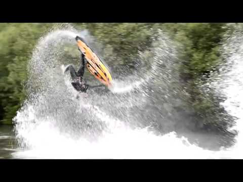 Jet Skier Performs Amazing Freestyle Tricks