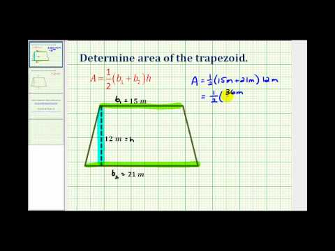 Ex:  Find the Area of a Trapezoid