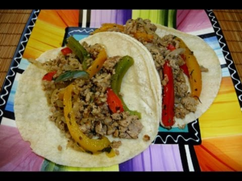 Ground Meat Fajitas