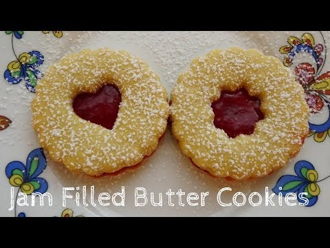 How to make Jam Filled Butter Cookies