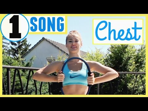 One Song Intense Chest Workout & No More Arm Fat! (Quick Workout at Home)