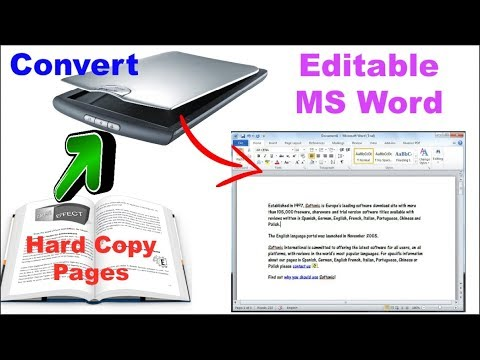 How to Convert Scanned Document in to Editable Text