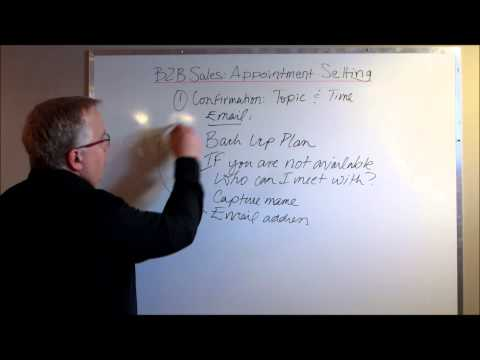 B2B Sales: Appointment Setting With Customers