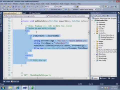 IntelliTrace in Visual Studio 2010