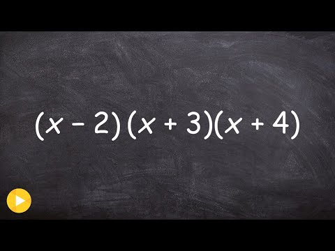 Learn How To Multiply Three Binomials by One Another - Math Tutorial