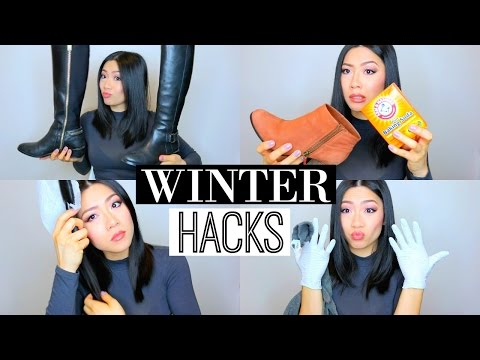 9 Easy Winter Beauty & Life Hacks! - Removing static from hair, DIY boot holder & more! | MISS YANYI