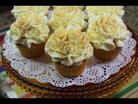 Lemon Curd Cupcakes/Sponge Cake Recipe/With Lemon Curd Whipped Cream