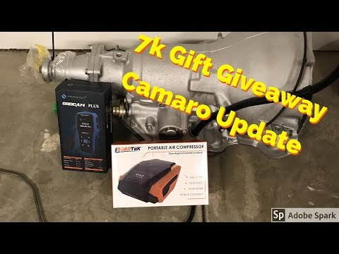 7k Gift Giveaway Ideas, Camaro Update! Sorry about the audio!