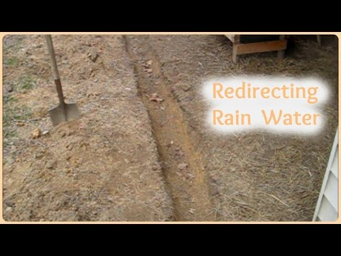 Routing Rainwater Away from the Barn / Building