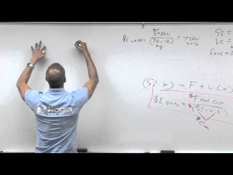 Cost Volume Profit - Lesson 1