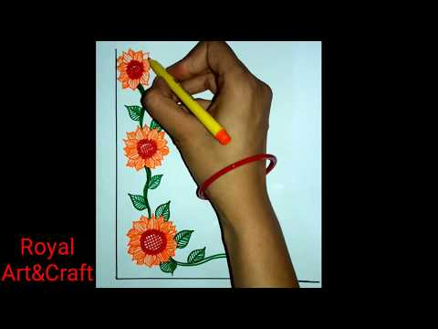 DIY    Border Design For Project file   Very simple,easy & decorative corner design for project file