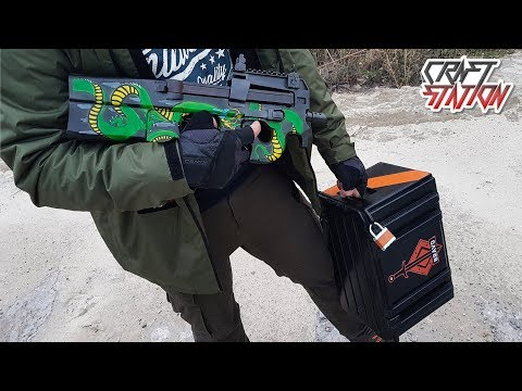 HOW TO MAKE P90 EMERALD DRAGON IN REAL LIFE (CS:GO,DIY)