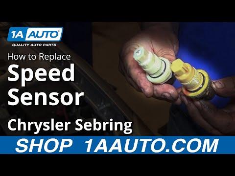 How To Install Fix Speedometer Transmission Sensors 1995-06 Chrysler Sebring Dodge Stratus