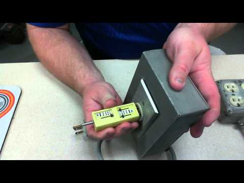 Receptacle Polarity and Tension checker with visual inspection