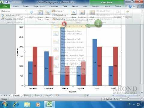 Using Excel 2010 - Position the Chart Legend