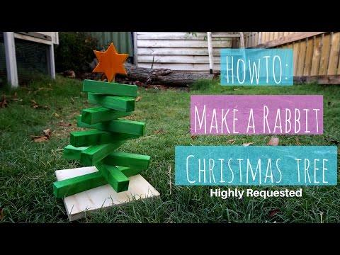 HOW TO Make A Rabbit Christmas Tree