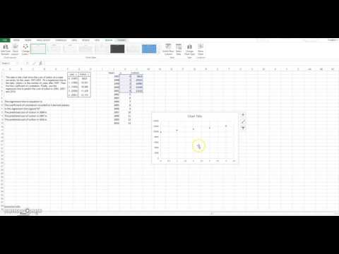 Use Excel to find linear regression equation