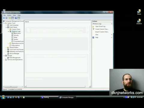 How To Access Windows Vista Logs Management Console Event Viewer in Under 30 Seconds