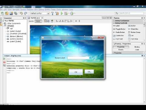 Java How to - How to set a background image for a JFrame using Jlabel