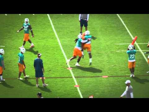 Miami Dolphins angle tackle exaggeration: Defense
