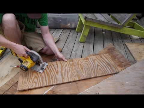 Scrap Plywood Door -Make-A-Wish Tree House Part 3 (Tiny House)