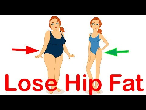 How To Lose Hip Fat Fast - 5 steps with animation