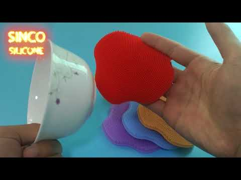 silicone dish cloth / silicone washing brush / silicone dish scrubber review