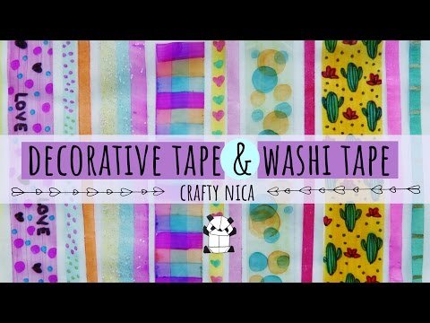 DIY:  HOW TO MAKE WASHI TAPE & SLIM WASHI TAPE 🌈 MAKING DECORATIVE TAPE AT HOME