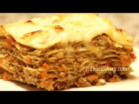 Homemade Lasagna Recipe from Scratch - Video Culinary