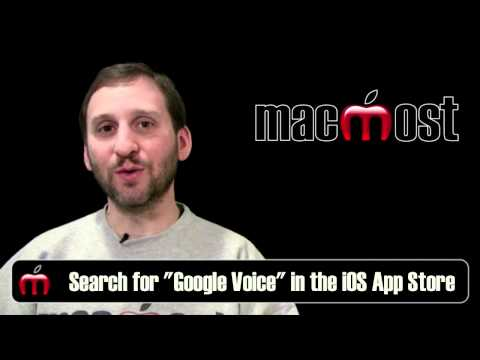 Free iPhone SMS Text Messaging Using Google Voice (MacMost Now 510)