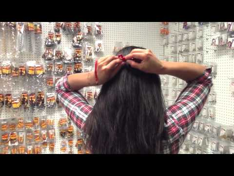 How To tie on a Ribbon Crown and Ribbon Necklace