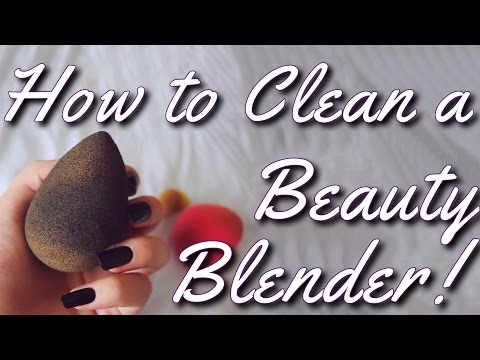 How to Clean a Beauty Blender! | Mikayla Snow