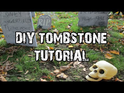 Easy DIY Foam Tombstone Tutorial