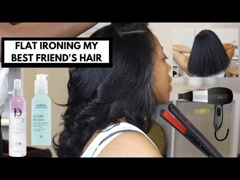 Straightening Curly Hair | Natural Hair
