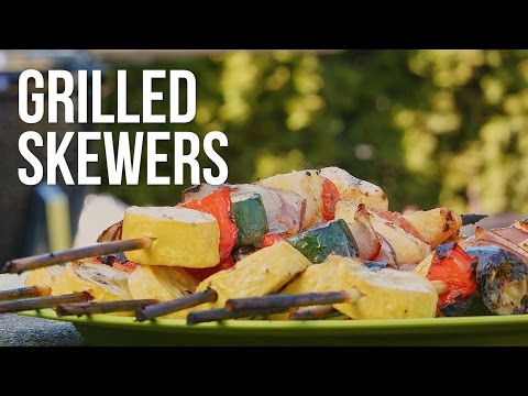 Grilled Vegetable Kabobs - Cooking with GRILLA Kong Charcoal Kamado Grill