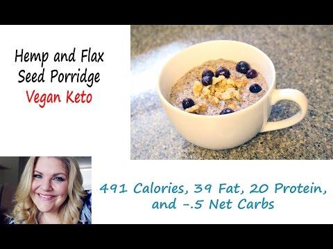 Hemp & Flax Seed Porridge Keto Vegan