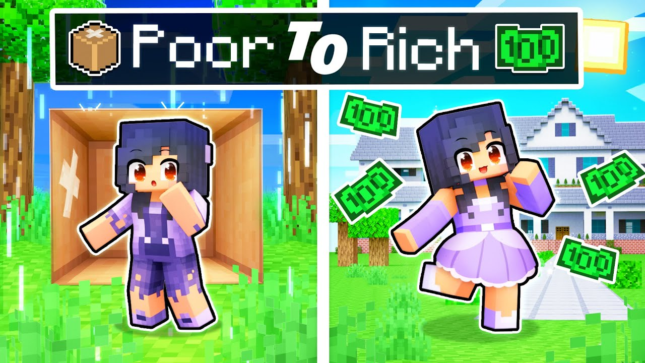 Aphmau's POOR To RICH Story In Minecraft!