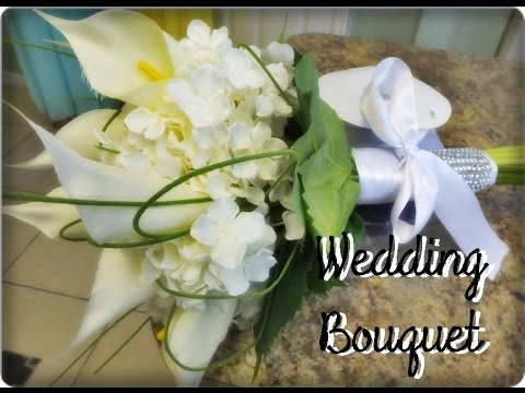 How to make a wedding bouquet using silk flowers | Bridal bouquet | Wedding Bouquet