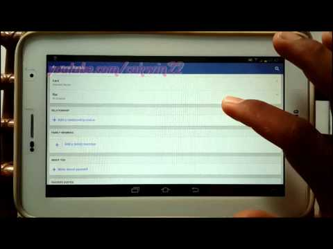 Android Tablet : How to Add relationship status in Facebook App
