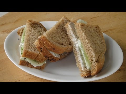 Cucumber and Dill Sandwich with Philadelphia Spread | Sanjeev Kapoor Khazana