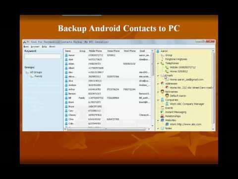 Easy way to backup contacts for android on PC