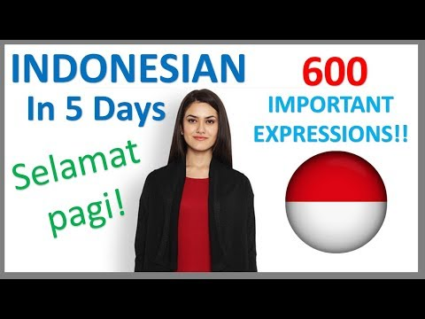 Learn Indonesian in 5 Days - Conversation for Beginners