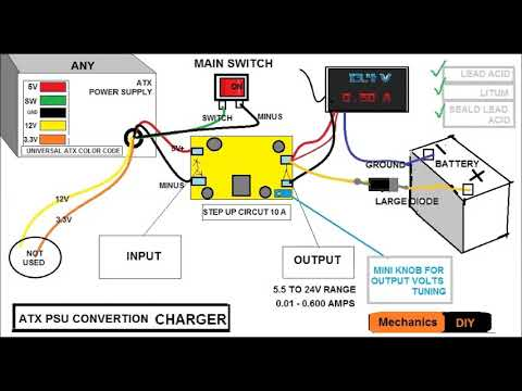 LEAD ACID BATTERY CHARGER USING ATX PSU
