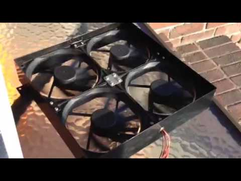 Solar powered gable attic fan install review DIY pt 1
