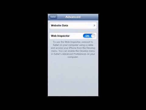 HOW TO DISABLE OR ENABLE SAFARI WEB INSPECTOR IN IOS 6 (IPHONE)